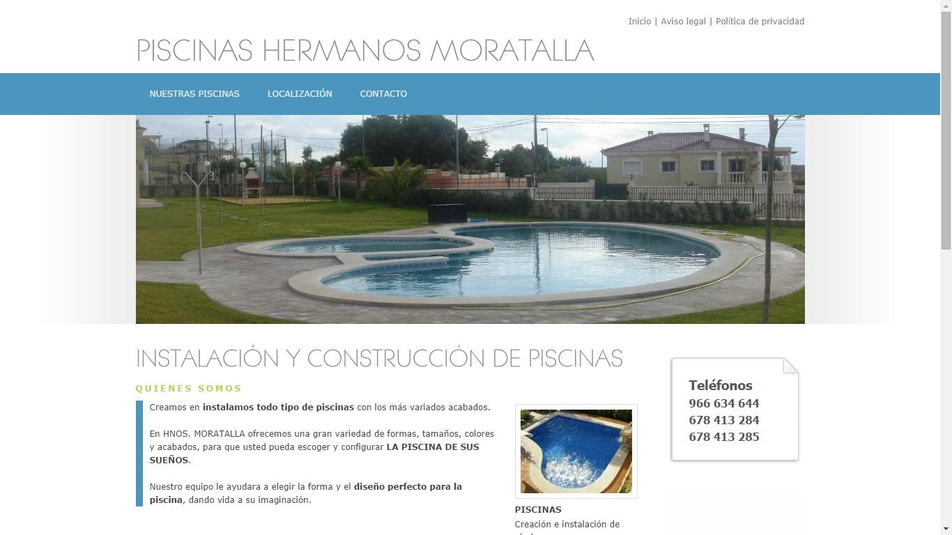 Instalación de piscinas Moratalla